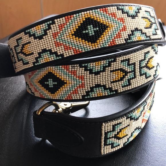 Ralph Lauren Navajo bead handbag guitar strap NWT ad9b6a6663554